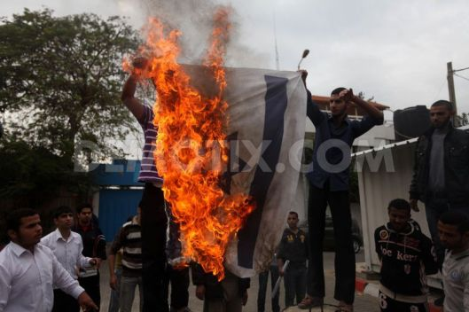 Palestinians protest against alleged Islam ban in Angola.